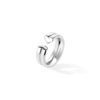 White Gold Ring Large Hearts -  Canaglia Paris-Milan Fine Jewelry