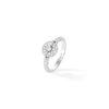 Bague jonc or gris et diamants, pavage diamants - Joaillerie Canaglia Paris-Milan
