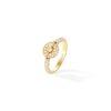 Bague jonc or jaune et diamants, pavage diamants - Joaillerie Canaglia Paris-Milan