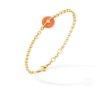 Bracelet chaine or jaune 1 bouée corail et diamants - joaillerie Canaglia Paris-Milan