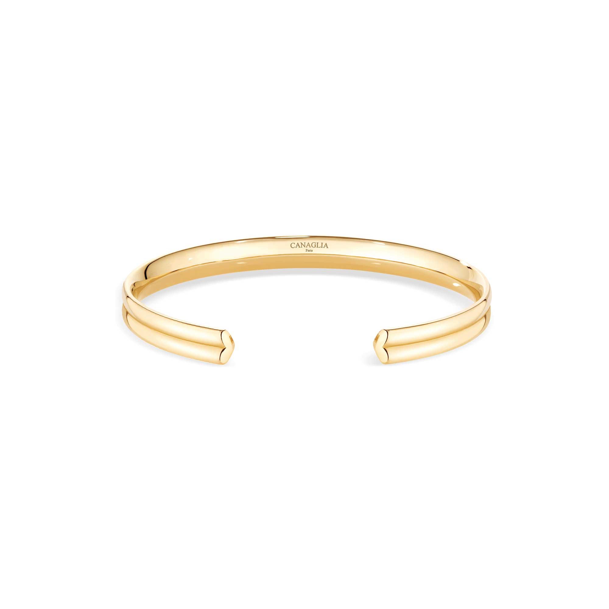 Bracelet coeur or jaune - Joaillerie Canaglia Paris-Milan
