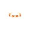 bracelet jonc or jaune corail et diamants - joaillerie canaglia paris-milan