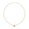 Collier a catenina in oro giallo, corallo e diamanti 1 bouée - gioielleria Canaglia Paris-Milano