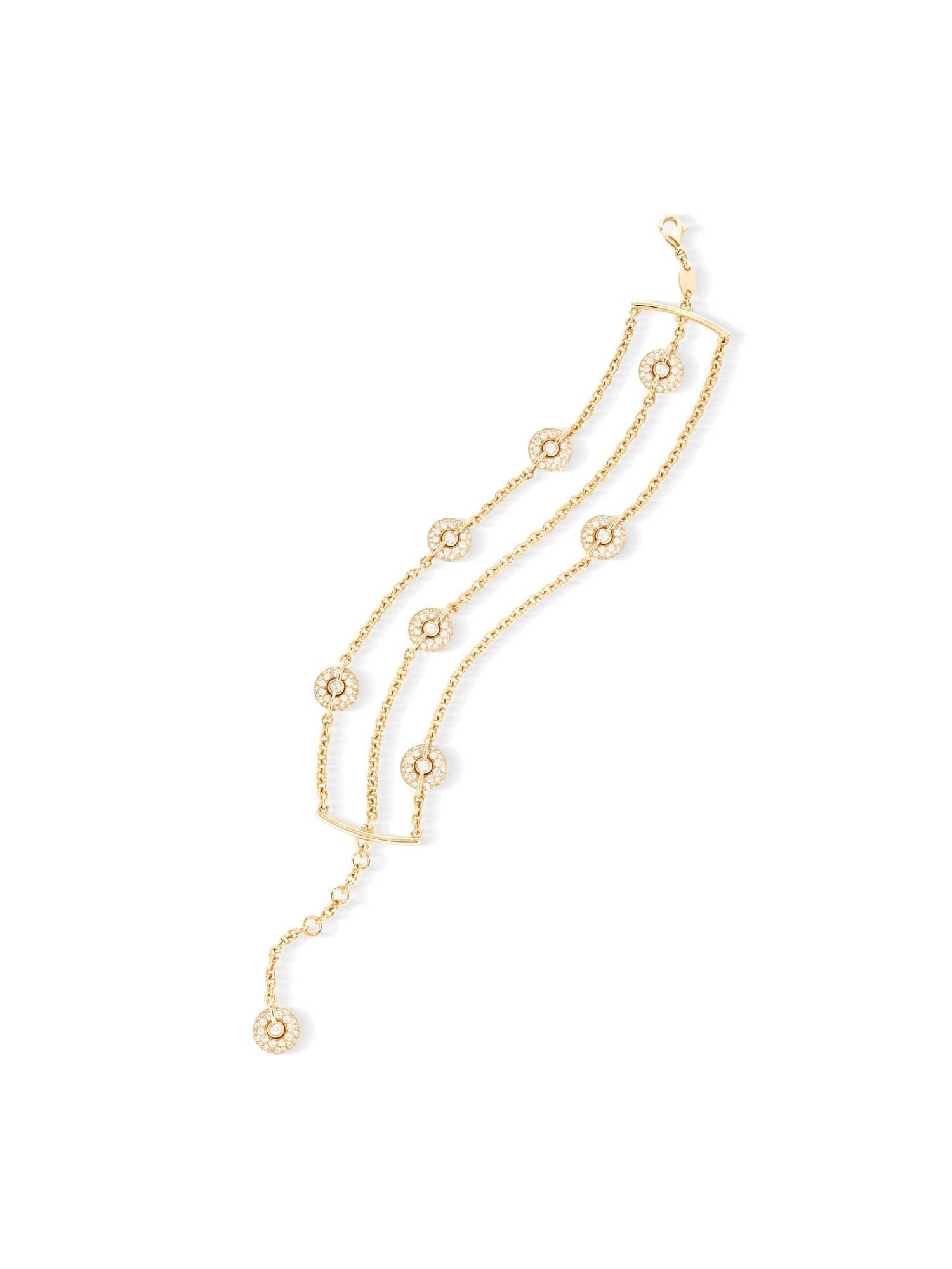 Bracelet manchette or jaune et diamants - Joaillerie Canaglia Paris-Milan