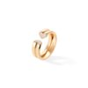 Bague grand coeur or rose pavage diamants - Joaillerie Canaglia Paris-Milan