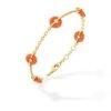Bracelet or jaune, corail et diamants 5 bouées - Joailleire Canaglia Paris-Milan