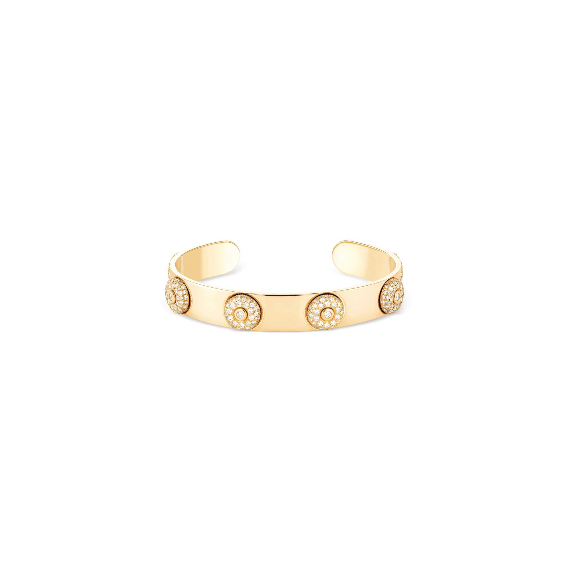 bracelet jonc or jaune 6 bouées diamants- joaillerie canaglia paris-milana